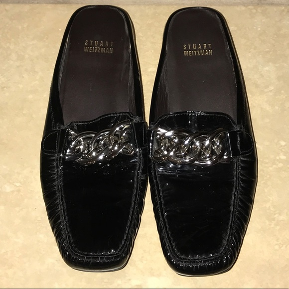Stuart Weitzman Black Patent Leather